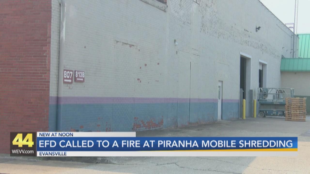 Image for Fire Breaks Out at Piranha Mobile Shredding in Evansville