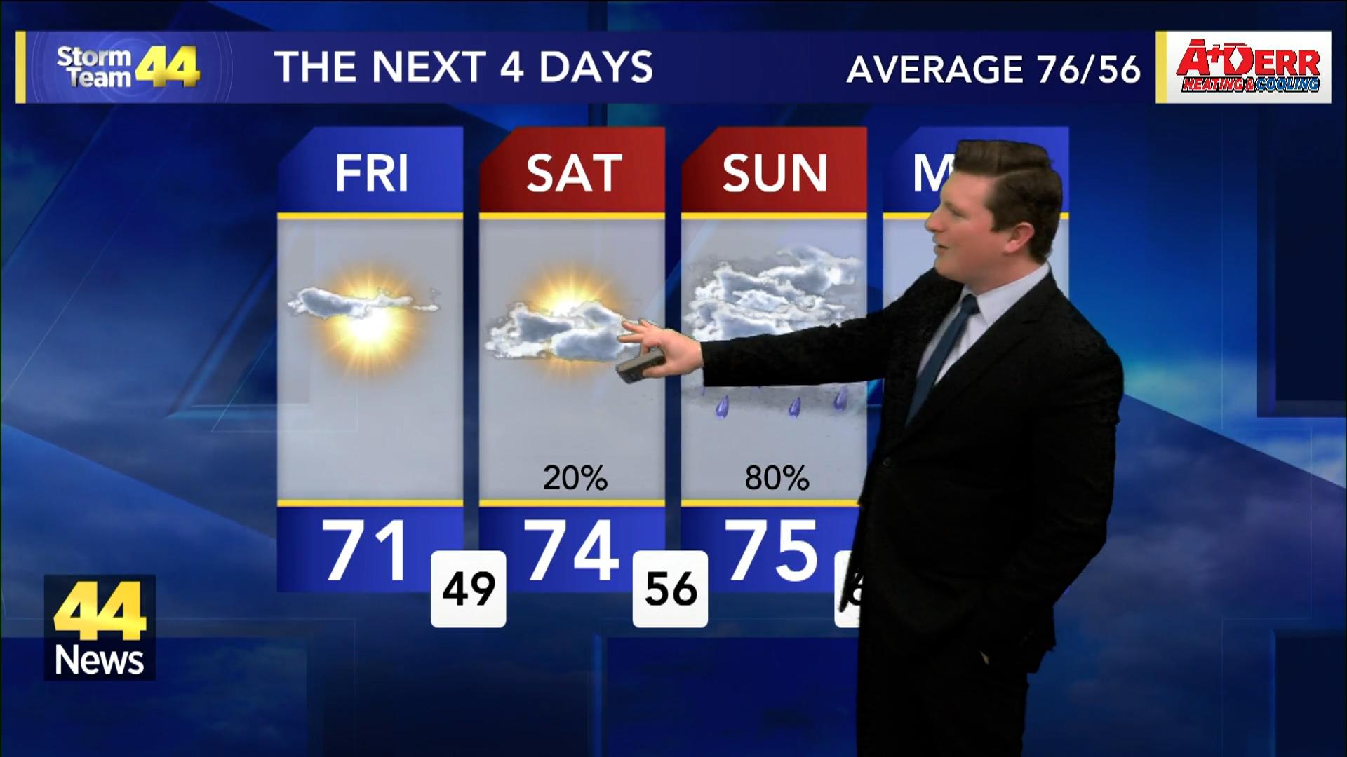 Image for Storm Team 44 Thursday Evening Forecast