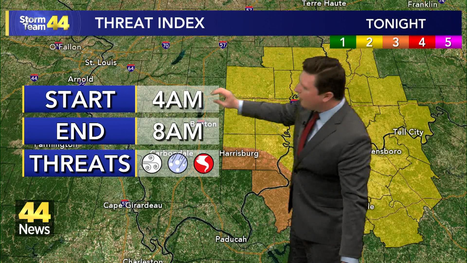 Image for Storm Team 44 Monday Evening Forecast