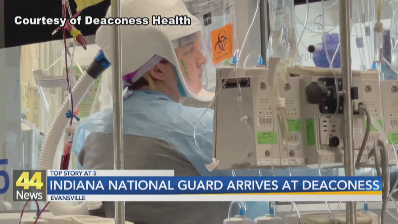 Image for Ten Indiana National Guard Members Assisting Deaconess Staff
