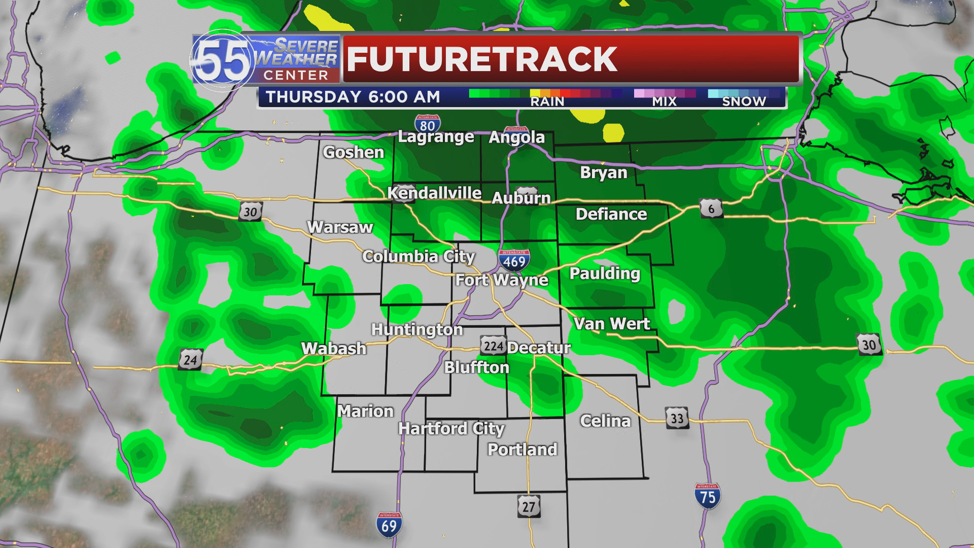 Image for Rain, wind and cool temperatures Thursday