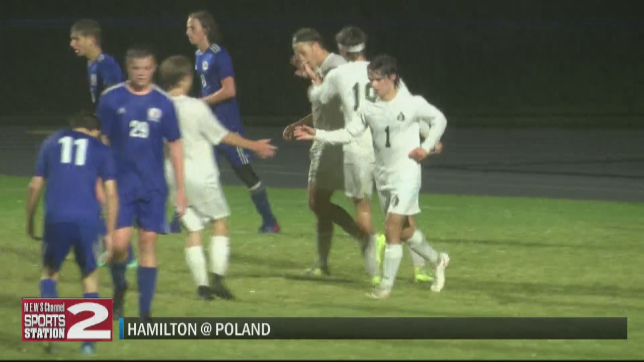 Image for SCORES 10-4-21: Hamilton boys soccer shuts out Poland in rain soaked CSC match