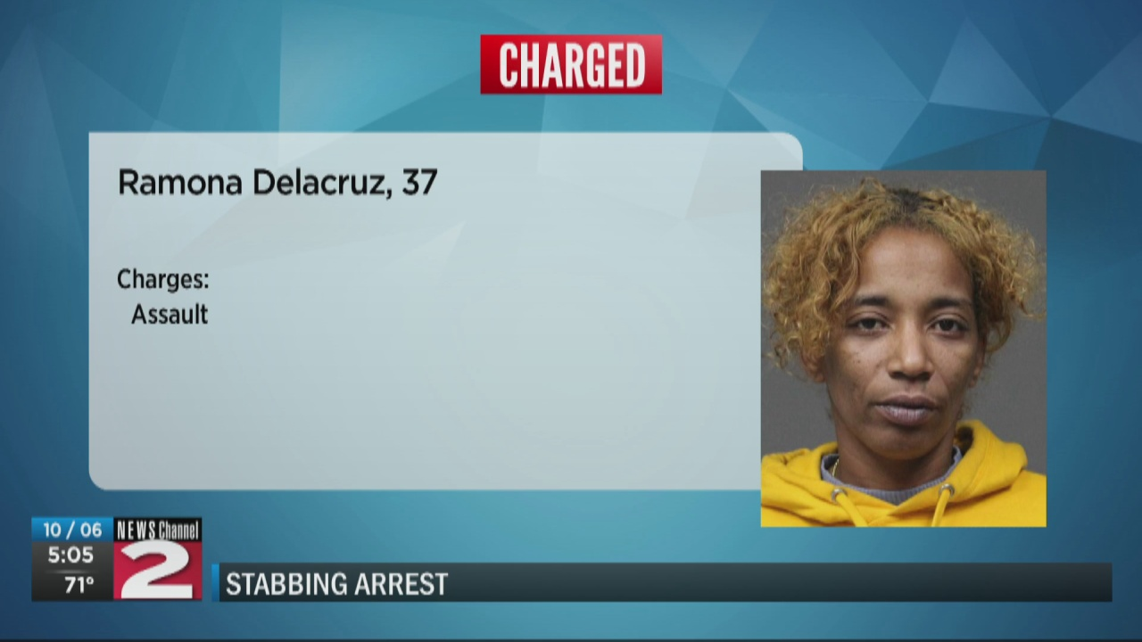 Image for Woman accused of stabbing man in the back during fight in Utica