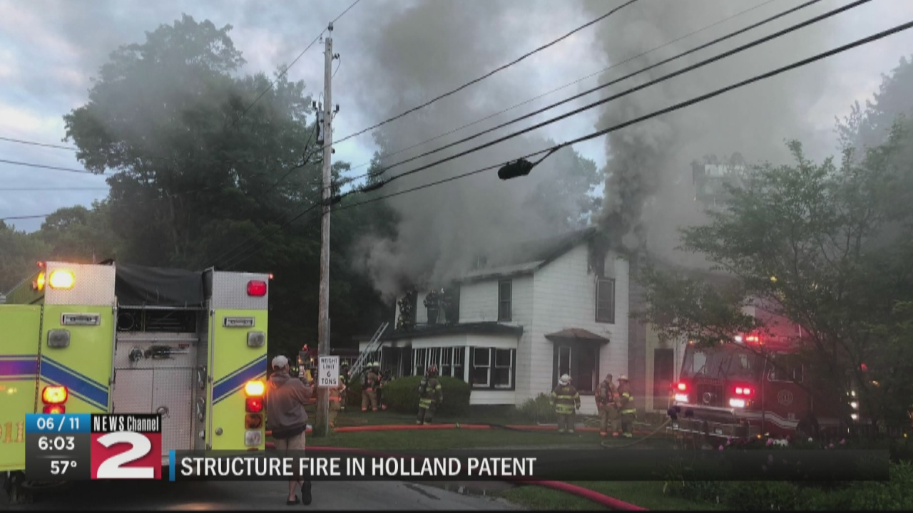 Image for Large fire consumes home in Holland Patent