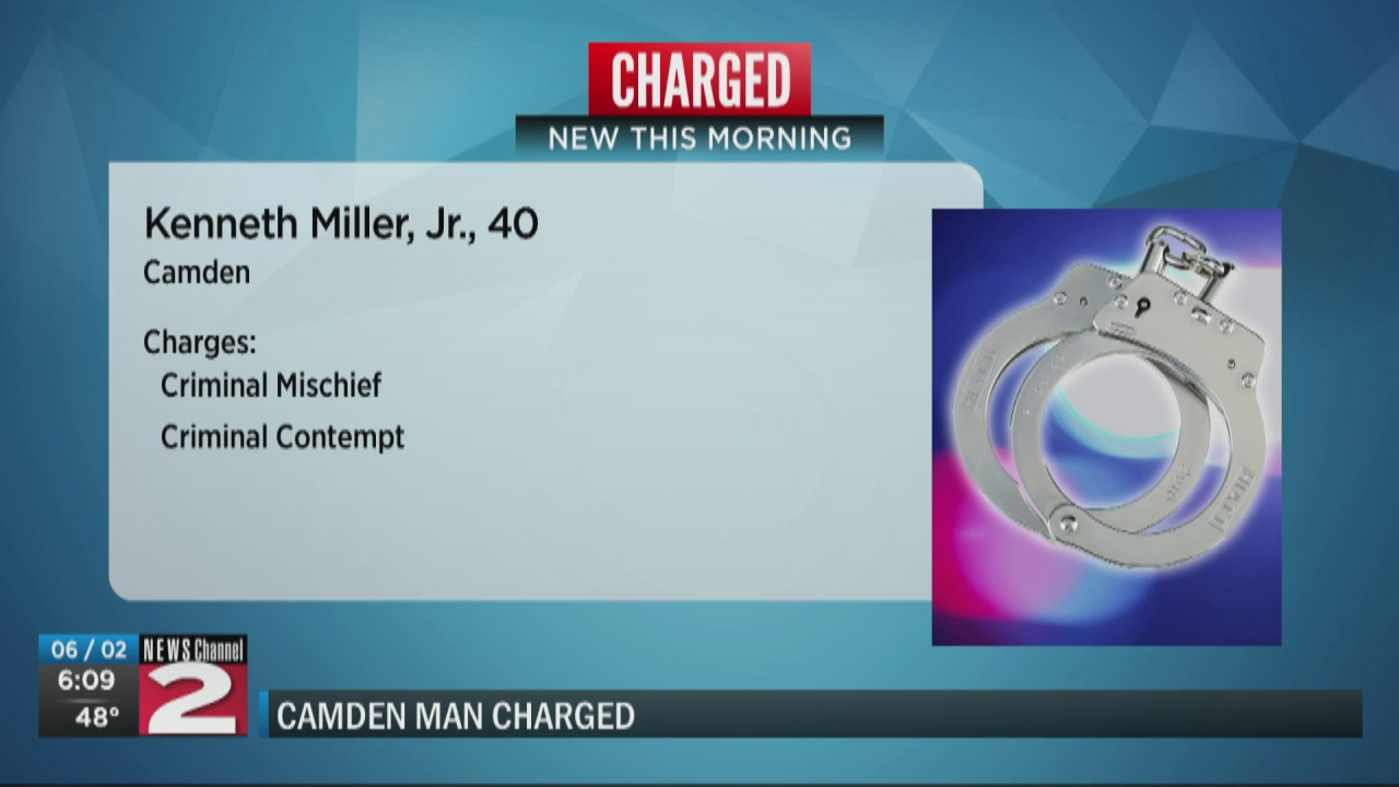 Image for Camden man accused of hitting vehicle with hammer, threatening self-harm during domestic dispute