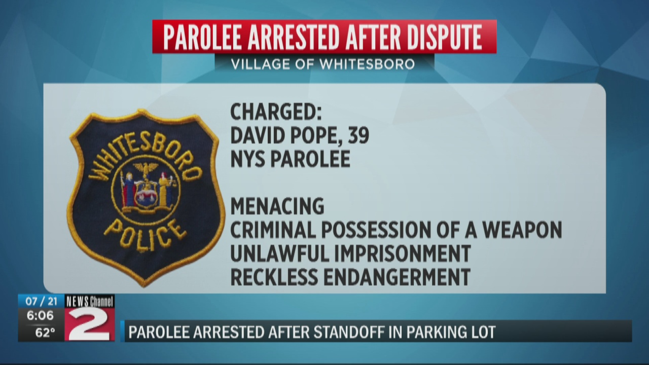 Image for Parolee facing several charges following brief standoff with police in Whitesboro