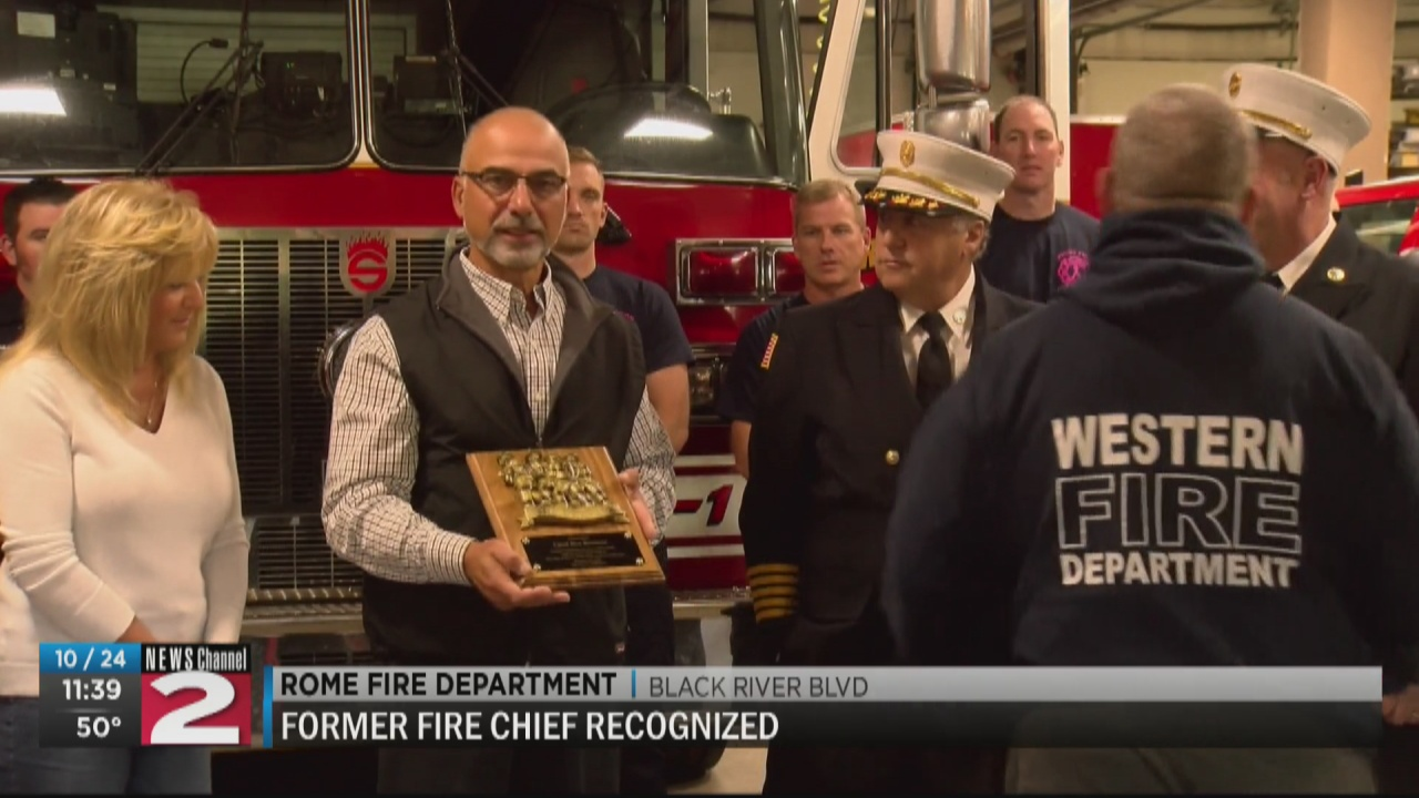 Image for Former Rome Fire Chief recognized