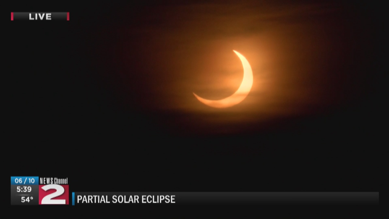 Image for WATCH: Live coverage of partial solar eclipse from Clinton