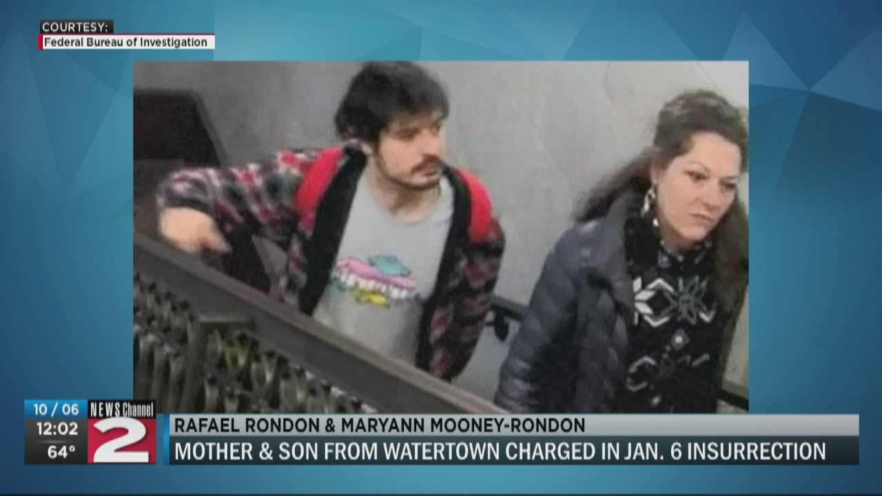 Image for Watertown mother, son arrested in theft of Pelosi staff laptop at Capitol