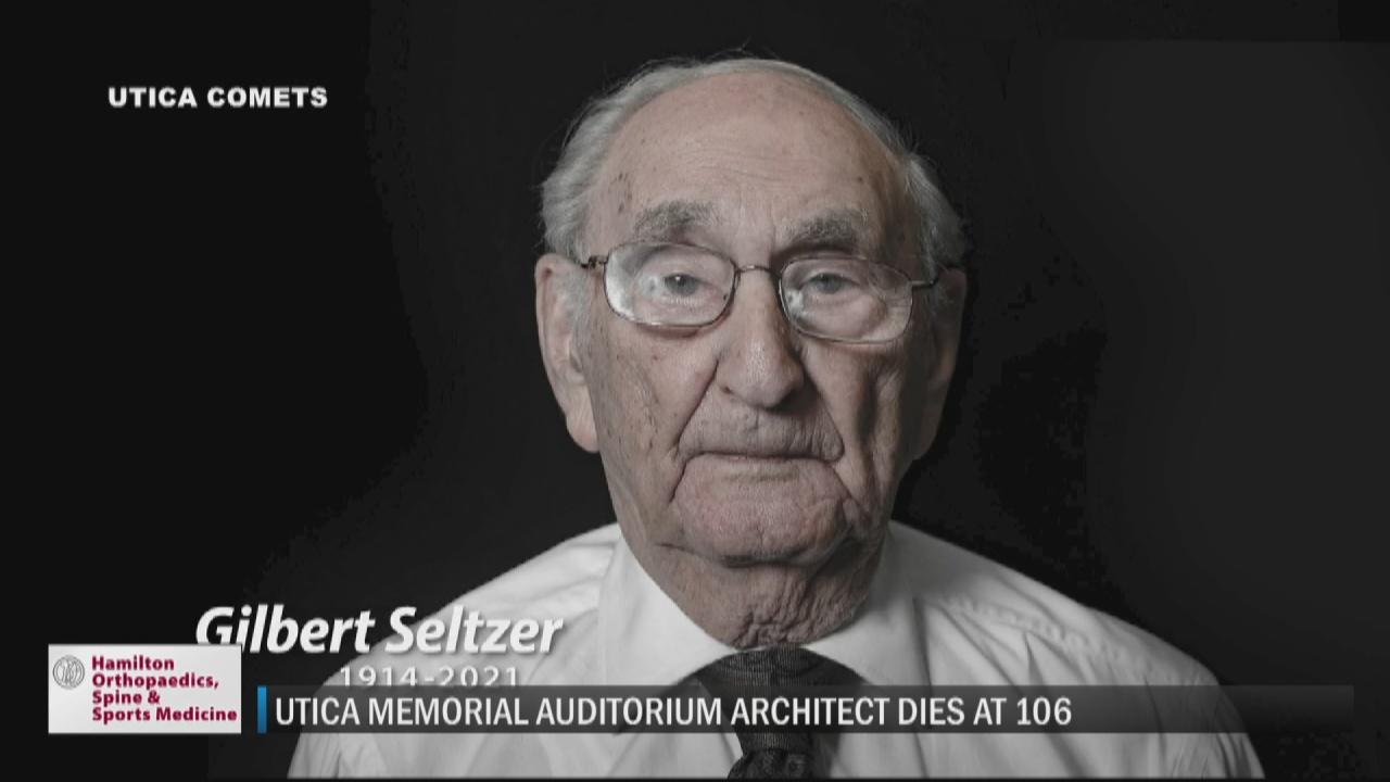 Image for Gil Seltzer, lead architect of Utica Memorial Auditorium, dies at 106