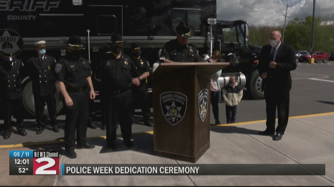 Image for Oneida County Sheriff's Office dedicates mobile command post to late Deputy Smoulcey