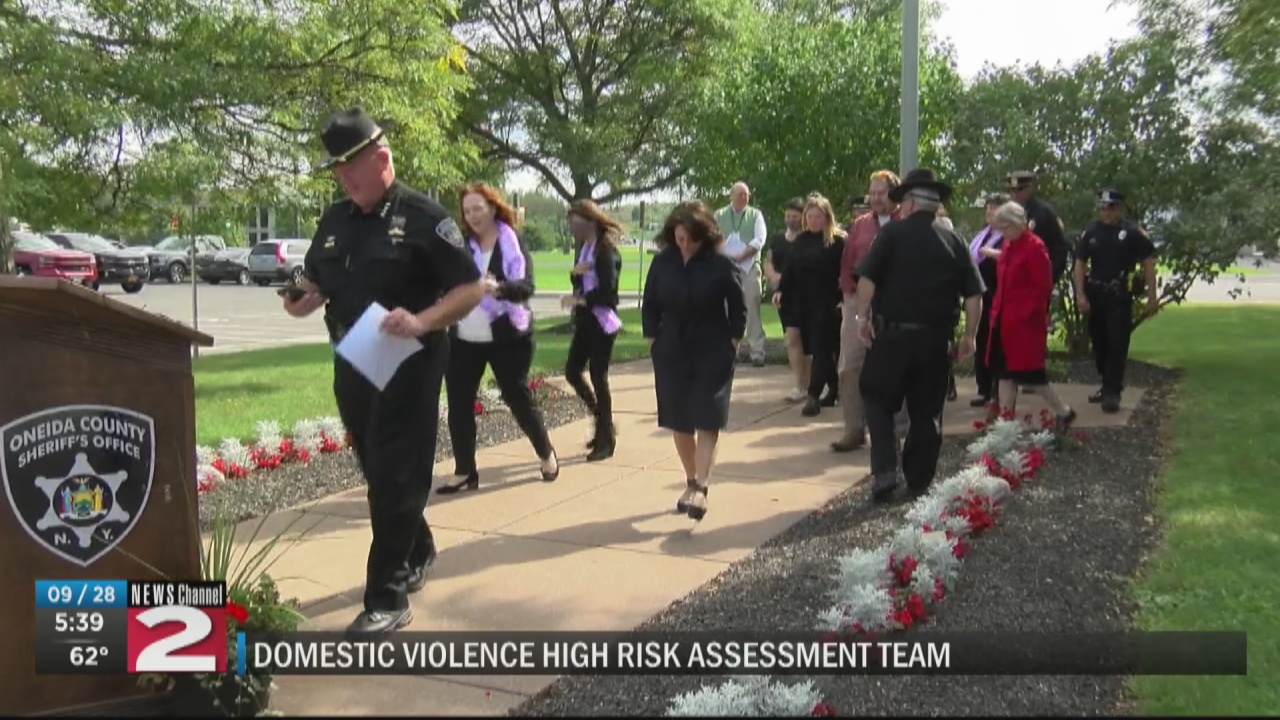Image for Oneida County law enforcement, organizations join together to fight domestic violence
