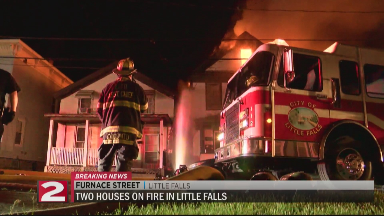 Image for Multiple crews battled a late night fire in Little Falls