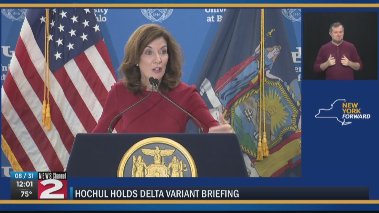 Image for Hochul calls for vaccines or weekly testing for teachers, school staff