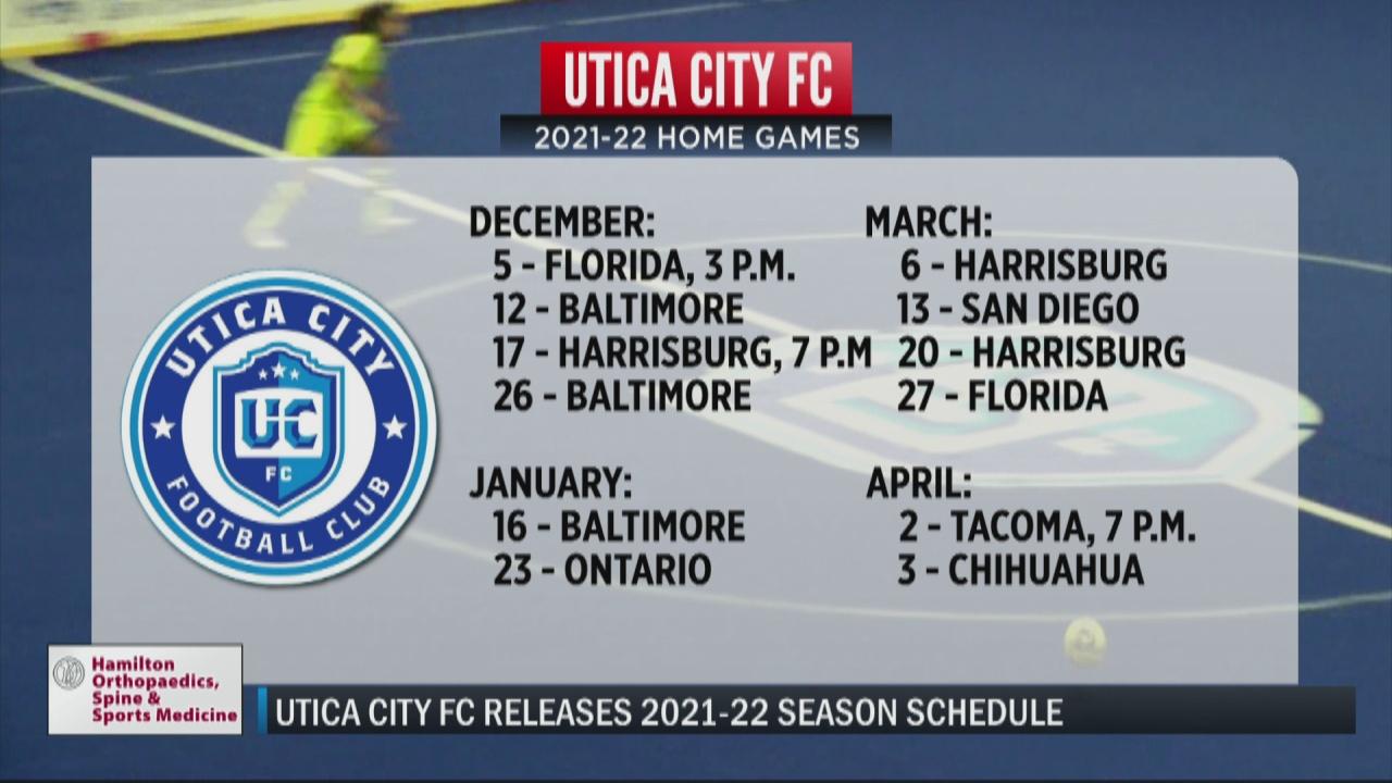 Image for Utica City FC releases 2021-22 season schedule