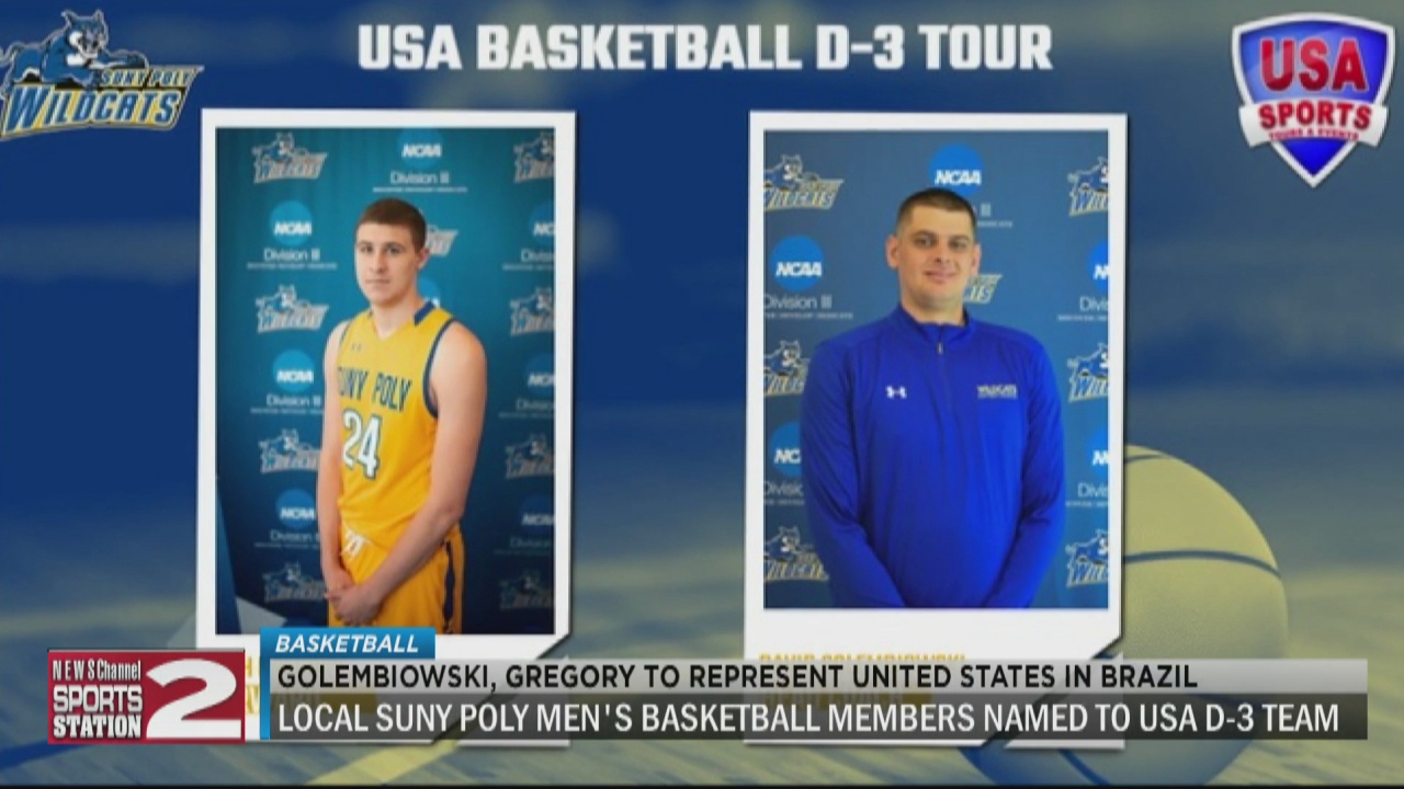 Image for SUNY Poly's Golembiowski, Gregory named to USA D-3 men's basketball team for Brazil Tour
