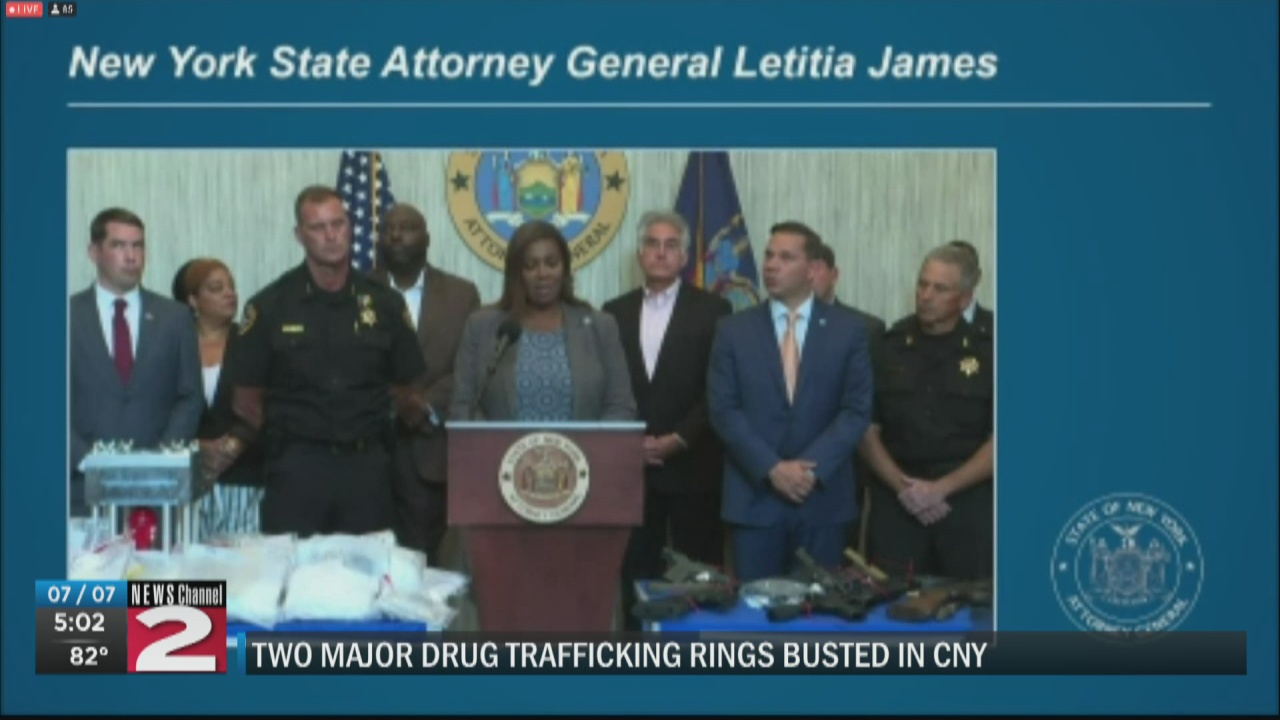 Image for CNY drug trafficking rings busted following 2-year investigation; 78 indicted