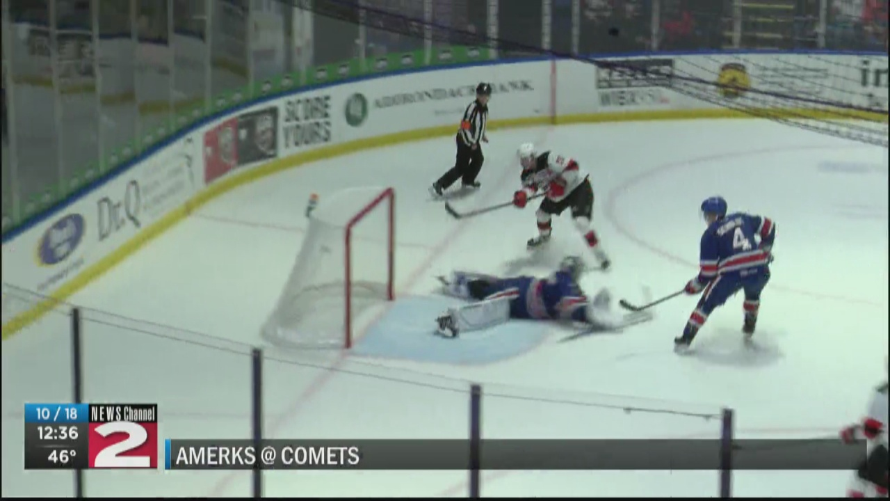 Image for Comets open 2021-22 season with convincing win over Amerks in front of sold-out crowd