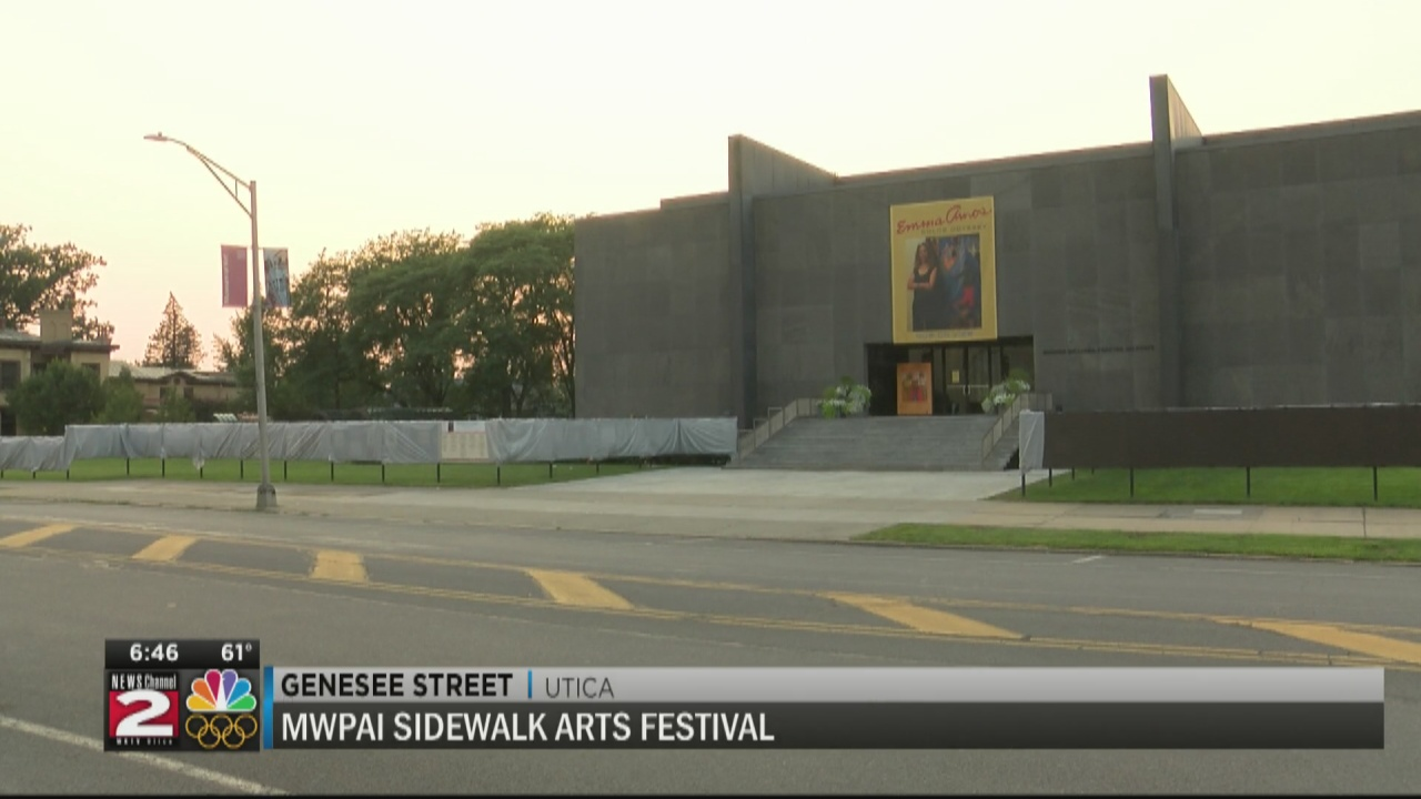 Image for MWPAI Sidewalk Arts Festival set up and ready