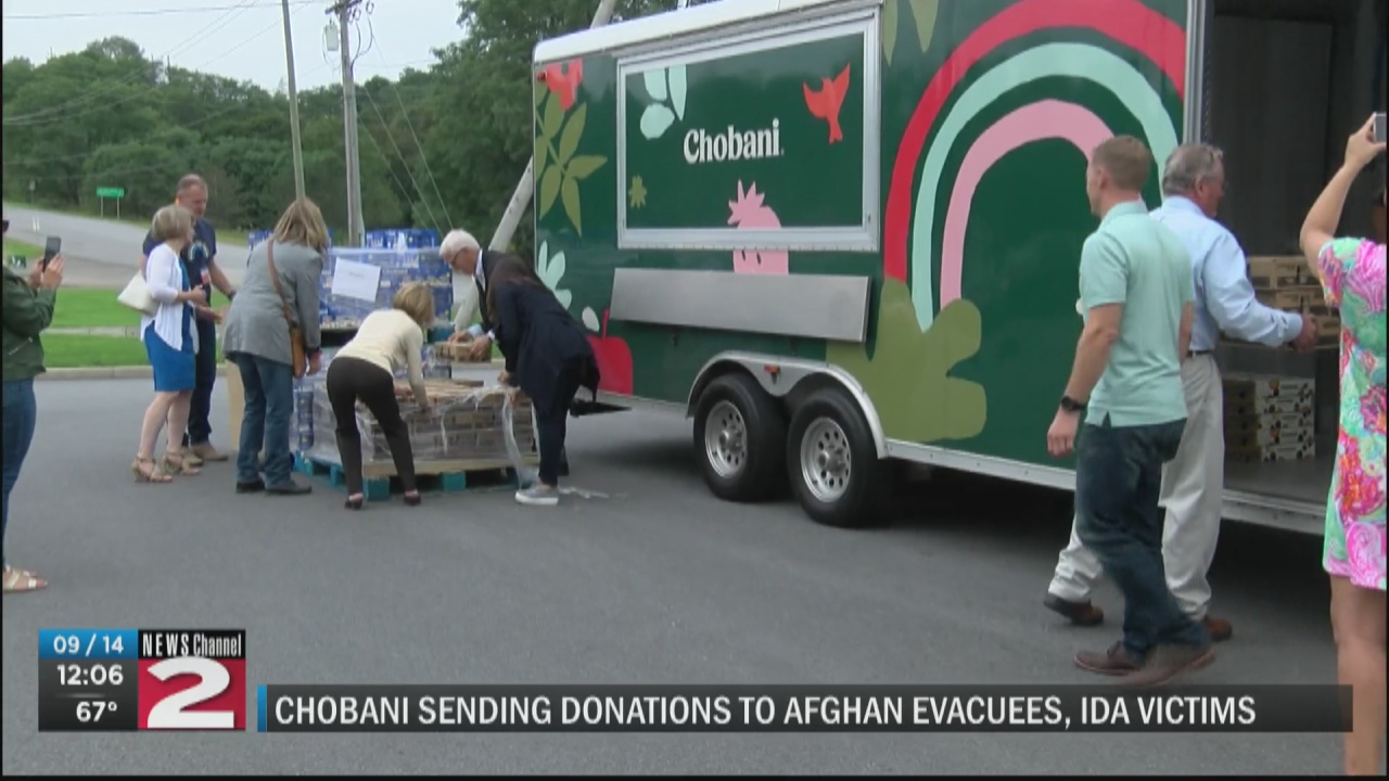 Image for Chobani donates products to hurricane victims, Afghan refugees