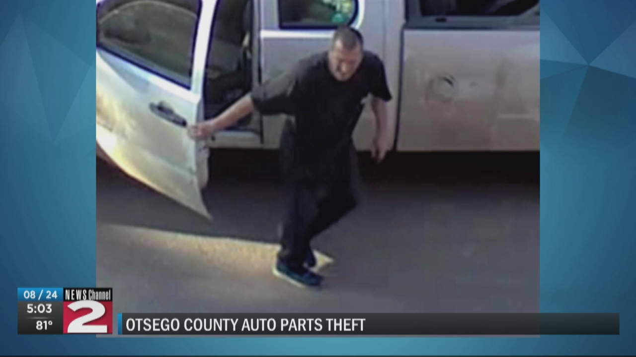 Image for State police searching for suspect in multiple auto store thefts in Otsego County