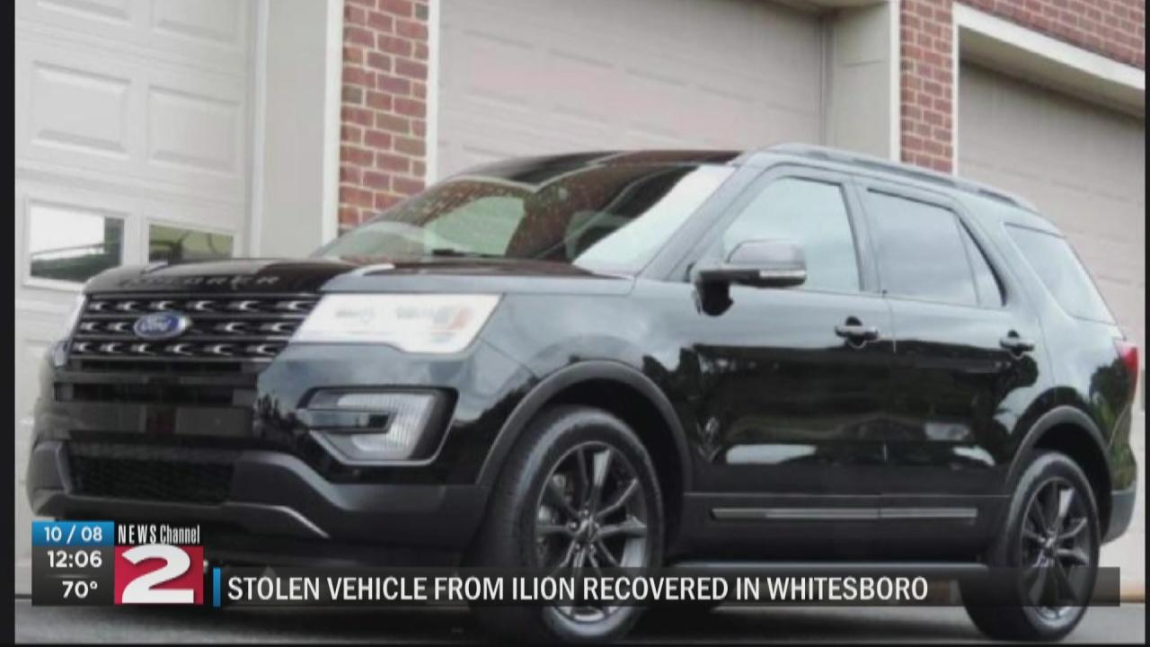 Image for Stolen SUV found in Whitesboro, returned to Ilion couple