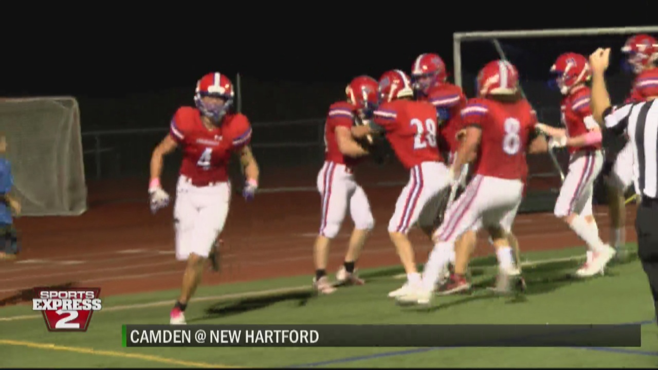 Image for SPORTS EXPRESS 10-8-21: New Hartford stays perfect topping Camden in battle of unbeatens; Holland Patent wins on Military and First Responders Night; Little Falls slips by Mt. Markham in double overtime