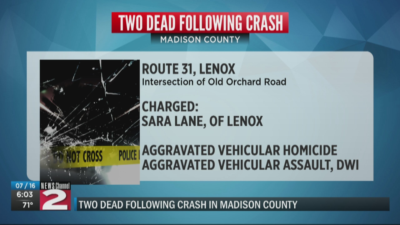 Image for Madison County woman accused of driving drunk, killing motorcyclist and passenger