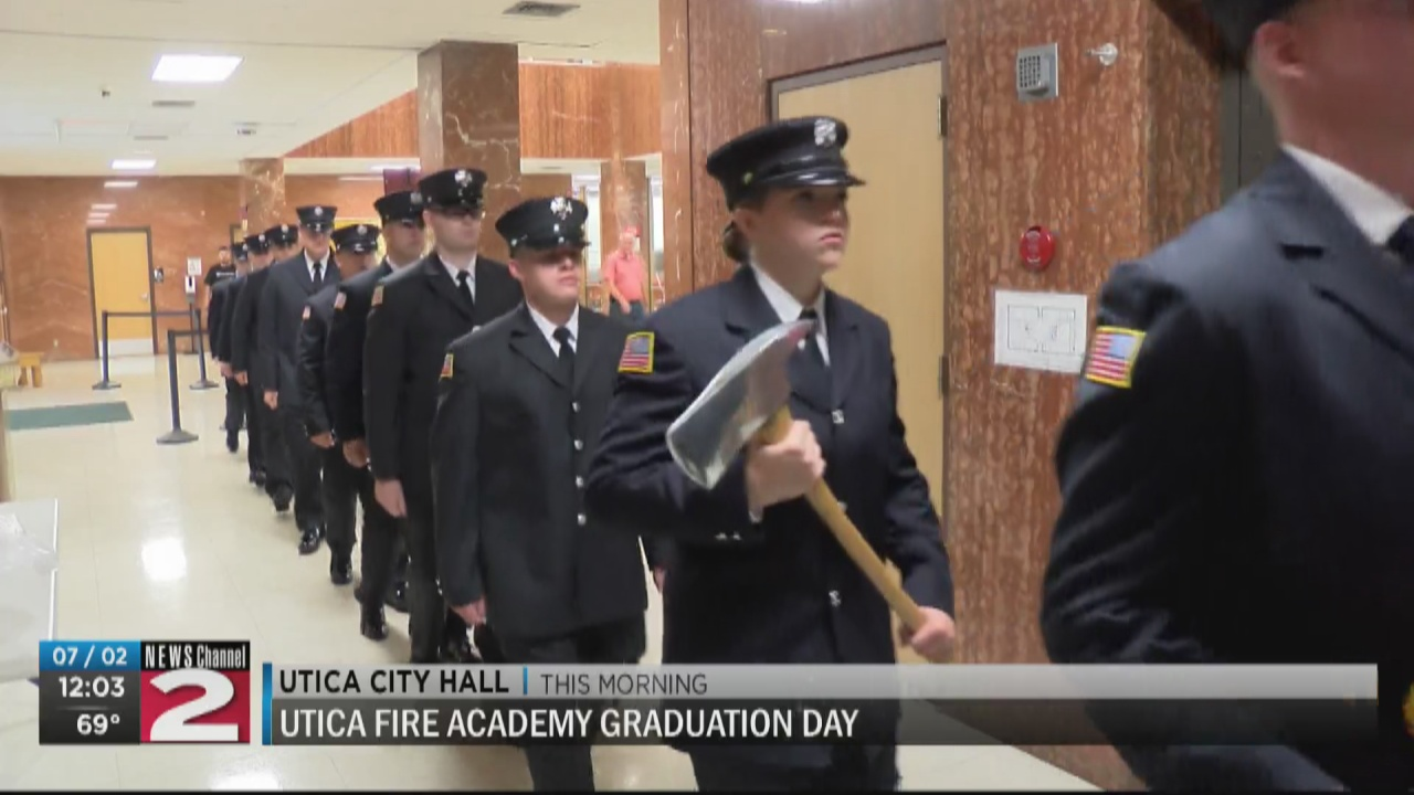 Image for 12 recruits graduate from Utica Fire Academy