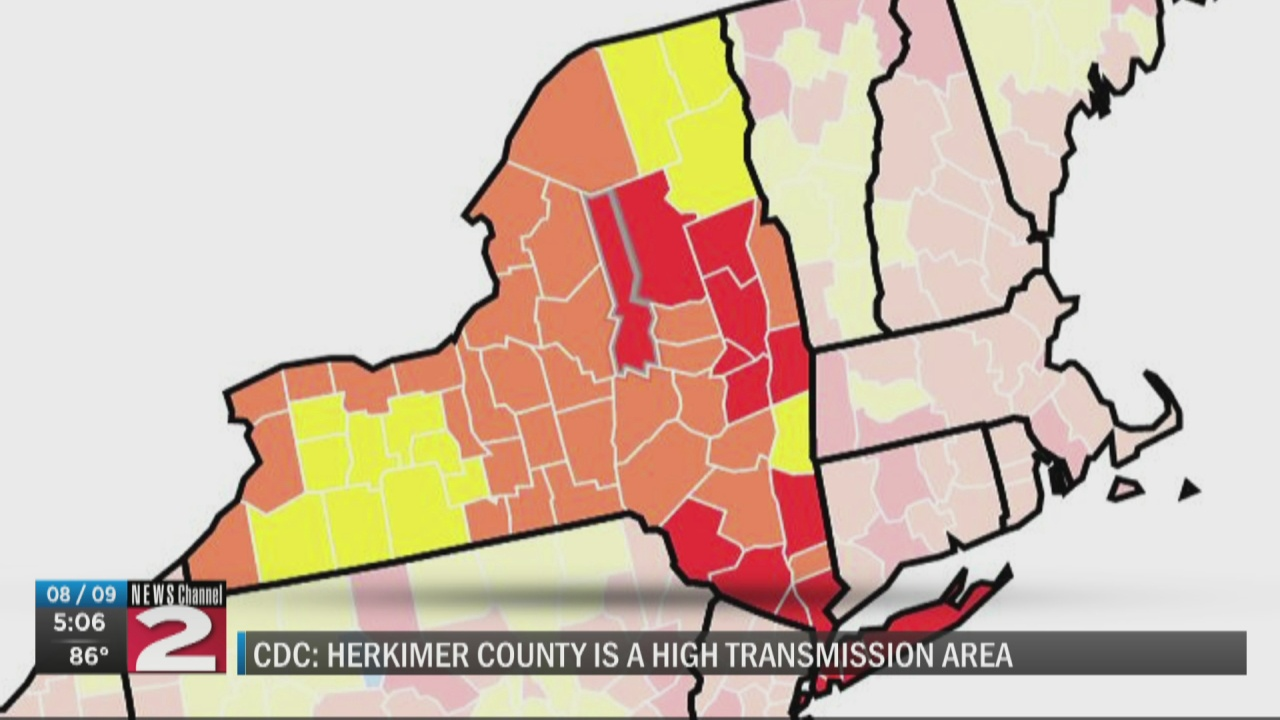 Image for CDC data shows 'high' level of COVID-19 spread in Herkimer County