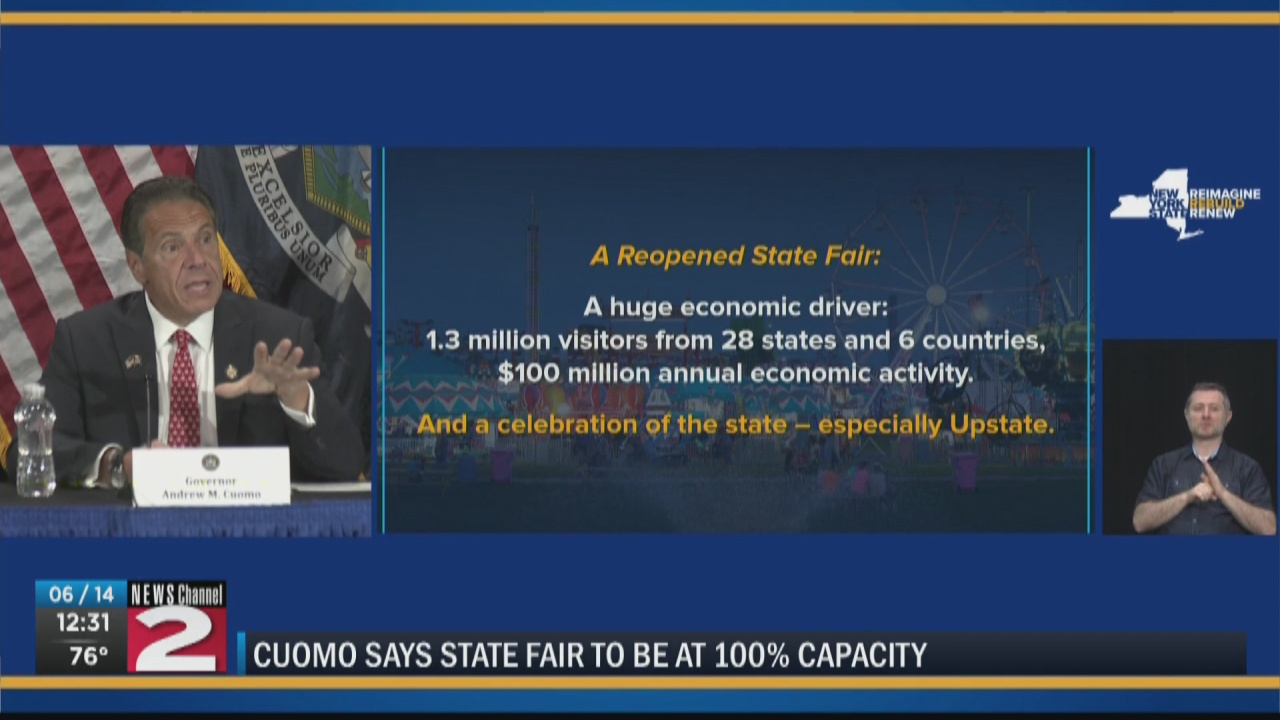 Image for Cuomo: New York State Fair to open at 100% capacity