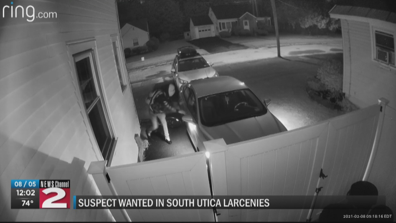 Image for Suspect caught on camera stealing from multiple vehicles in South Utica