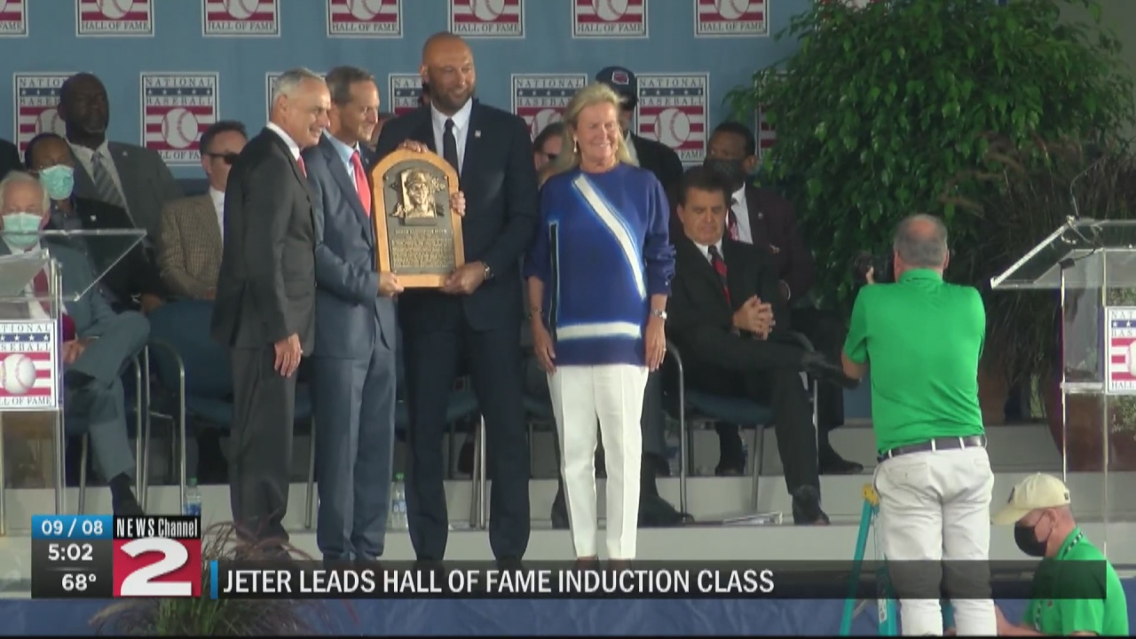 Image for Yankees legend Derek Jeter officially inducted into National Baseball Hall of Fame