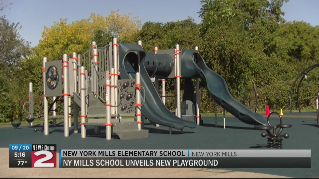 Image for New York Mills unveils a new school playground