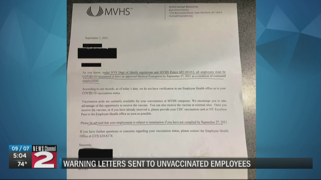 Image for MVHS reminds employees of vaccine deadline