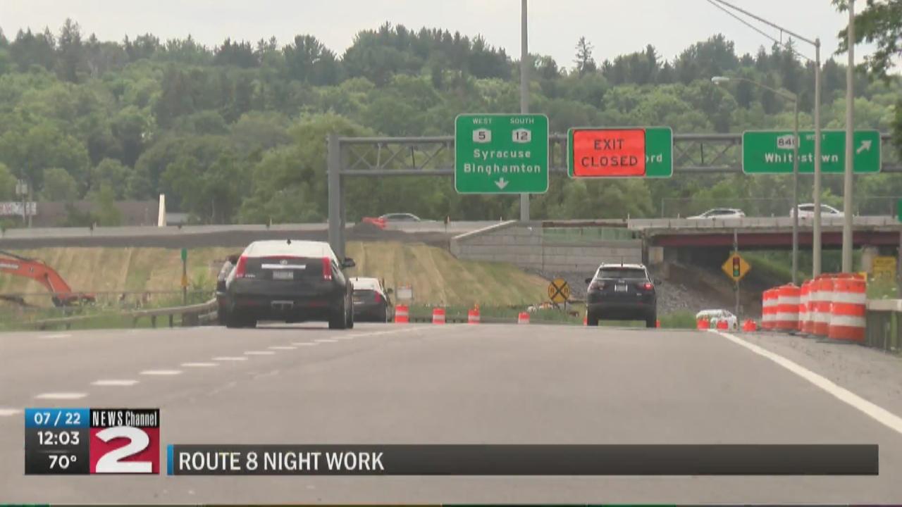 Image for Night work begins on Route 8 bridge next week