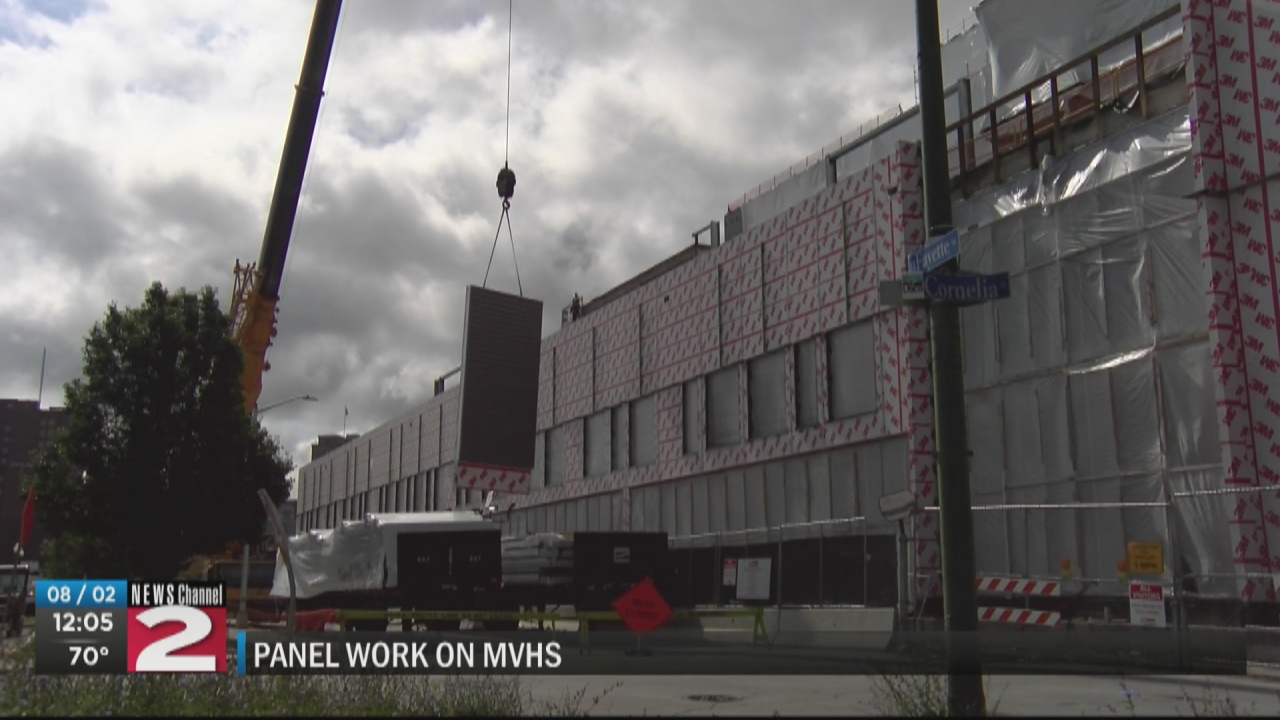 Image for Detour in place on Lafayette Street as crews install panels at Wynn Hospital