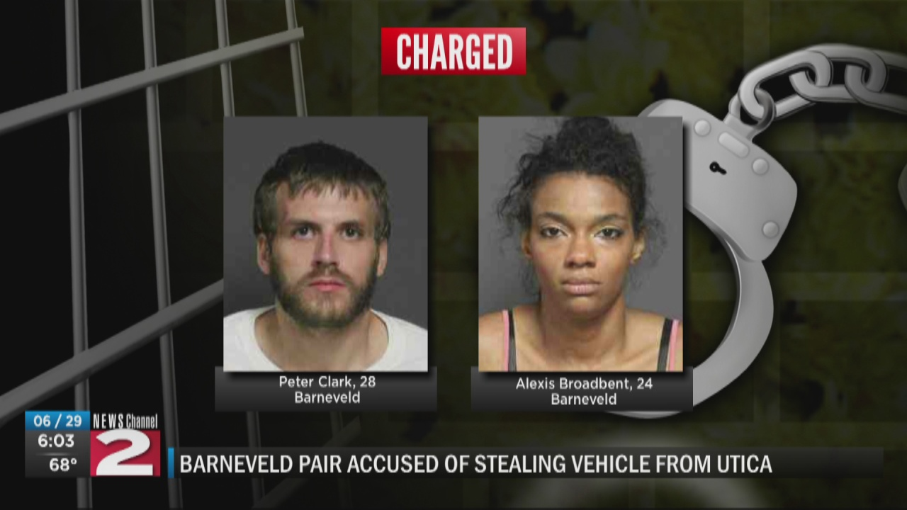 Image for Pair from Barneveld accused of stealing vehicle from Utica