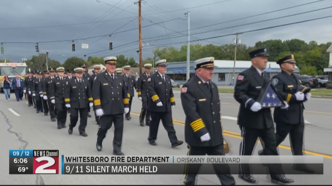 Image for 9/11 Silent March held in Whitesboro
