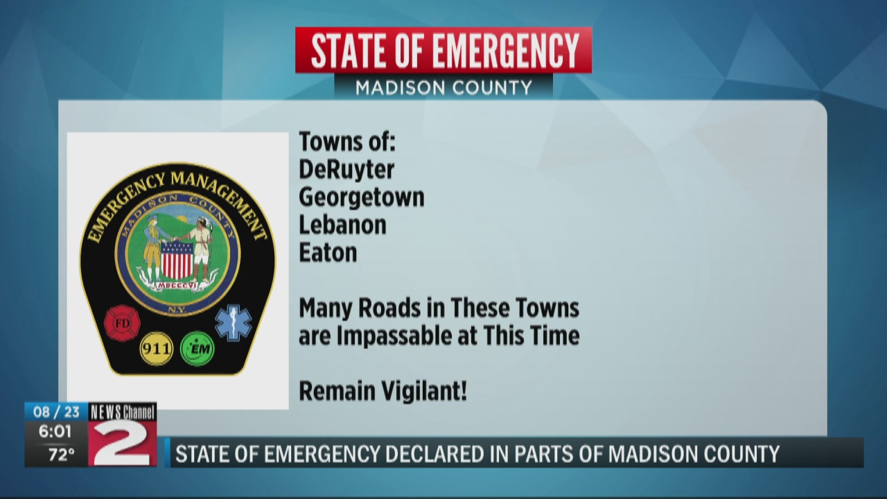 Image for State of emergency lifted in Madison County