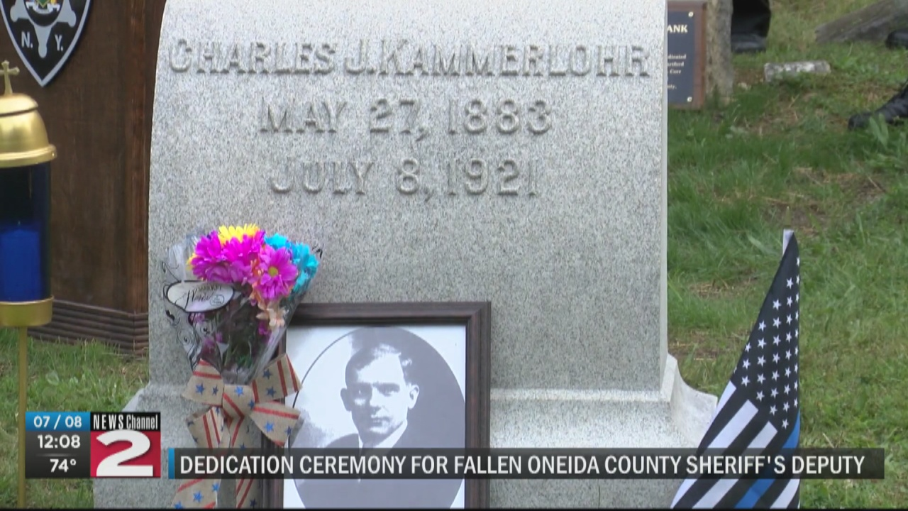 Image for Oneida County deputy killed in the line of duty honored on 100th anniversary