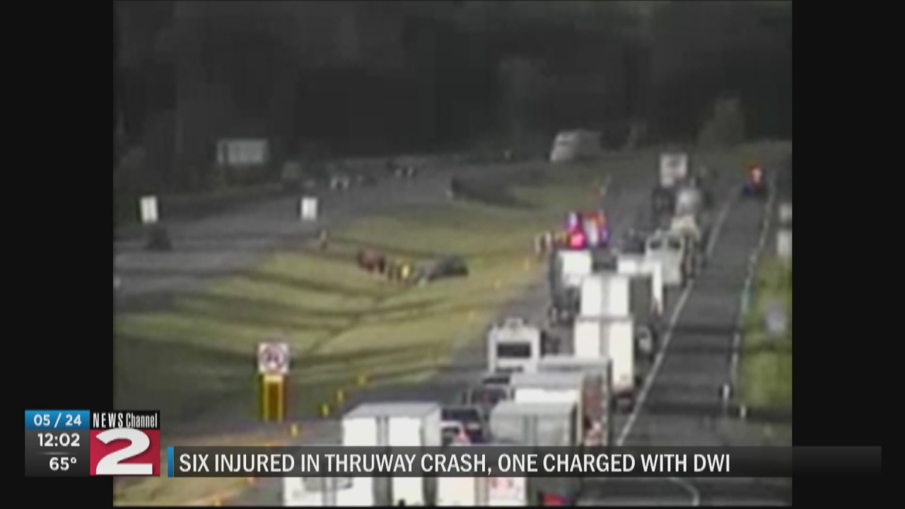 Image for Driver charged with DWI following Thruway crash that left 6 injured