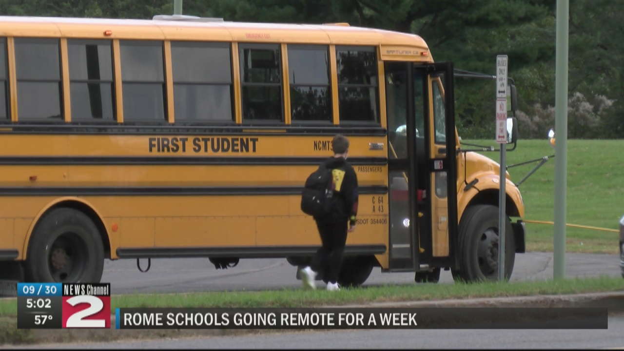 Image for Rome schools going remote following increase in COVID cases among bus drivers