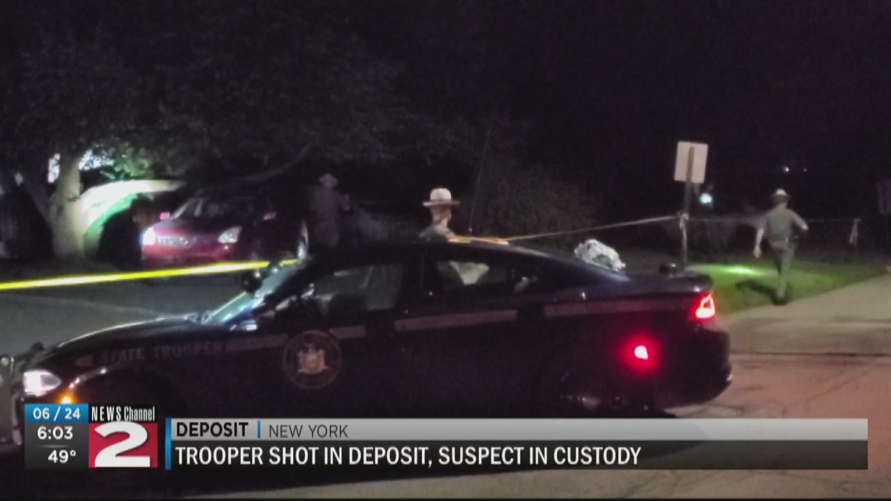 Image for New York state trooper shot while responding to domestic dispute in Delaware County