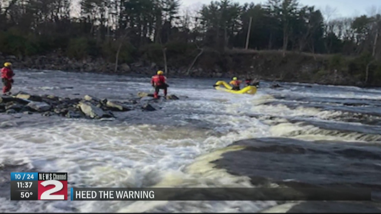 Image for Barneveld fire chief says it's important to heed warnings after juveniles become trapped on the water