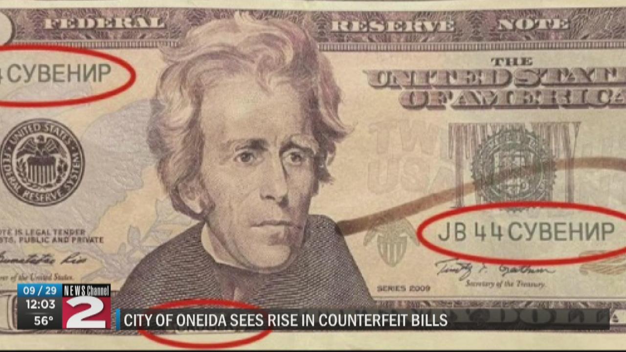 Image for Oneida police warn of counterfeit bills circulating around city