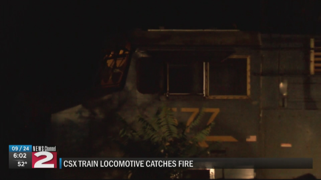 Image for Fire aboard locomotive of CSX train in Little Falls