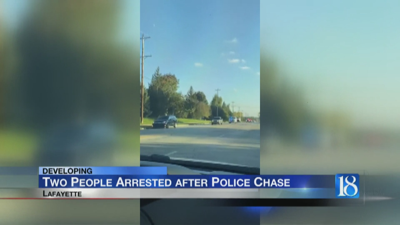 Image for Two People Arrested after Police Chase in Lafayette
