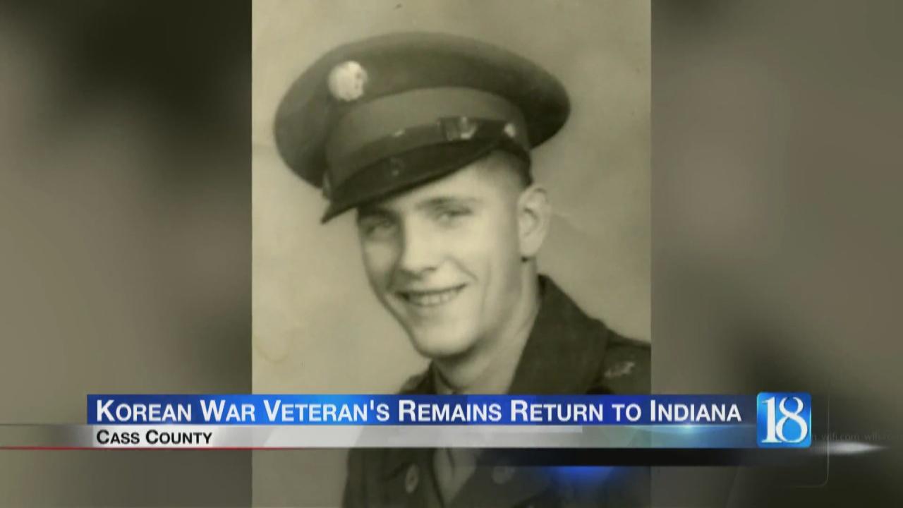 Image for Korean War veteran's remains returned to Indiana