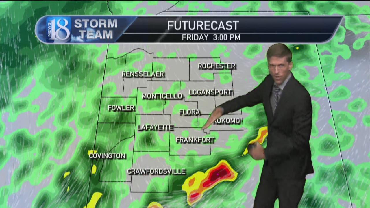 Image for Oct. 13, 5 PM Weather Forecast